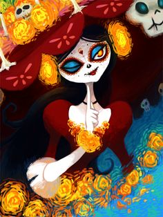 This is such an AMAZING artwork of La Muerte'! ✨❤