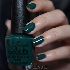 OPI Stay Off the Lawn! Deep dark green color