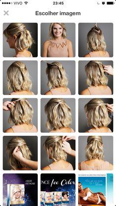 Passo a passo para cabelos curtos