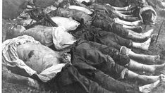 Lithuanians murdered by the Soviets in Rainiai massacre, one of the brutal mass murders in World War 2 Lithuania. Out of the at least 73 bodies only 27 could be identified due to mutilations. Prior to death the victims were tortured: their genitals severed and put into their mouths, eyes picked out, bones crushed, skin burned by hot water and acid, they suffered electrocution. The victims were recently arrested by the SovS for such 'crimes' as participating in the Boy Scout movement or…