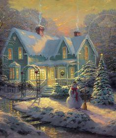 Thomas Kinkade ~ Blessings of Christmas