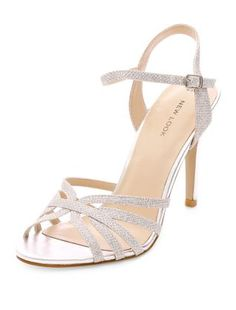 Silver Strappy Heeled Sandals | New Look