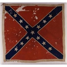 "Battle Flag No. 62 Captured at the Battle of Gettsyburg on July 3, 1863, by the 12th New Jersey Infantry, this flag is believed to have belonged to the 26th North Carolina Infantry. A history of the 26th Infantry records the following report on the incident in which the flag was captured: ""Our color bearer, a member of Company K, Facuett's Company from Alamance County, succeeded in passing over this fence, but fell mortally wounded. He died that night with his face to the enemy. Our colors…"
