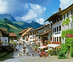 Gruyères, Switzerland Gruyères is famous for its namesake cheese, whose mild, nutty flavor melts so well in fondue. But few are familiar with the town itself, a medieval hamlet in the upper valley of the Saane River in western Switzerland. A wide, stone-paved street leads up to the magnificent 13th-century Gruyères Castle, with its imposing fortifications and expansive views of the surrounding Alpine foothills.