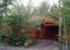 Villa Schreiner, entrance. Sverre Fehn