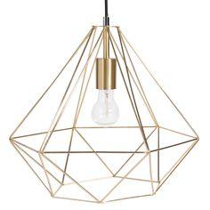 Lampada a sospensione in metallo D 40 cm GOLD DIAMOND