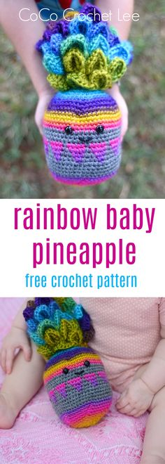 This adorable crochet amigurumi pineapple is the perfect huggable friend! Get started on this free crochet pattern!