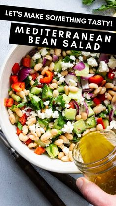 Healthy Salad Recipes, Veggie Recipes, Whole Food Recipes, Healthy Snacks, Vegetarian Recipes, Healthy Eating, Cooking Recipes, Healthy Salad For Lunch, Salad With Protein