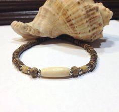 Wooden mens bracelet-bones mens bracelet-mens by JewelzonJewelz