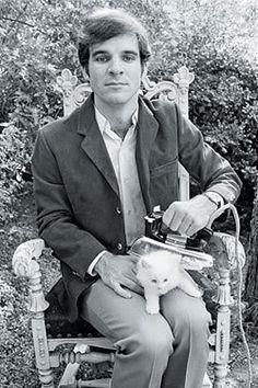 Steve Martin ironing cat