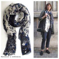 Morning Style @ www.matieresareflexion.com  Ma Poésie [Foulard - Scarf]  Pyrus [Veste+Pantalon - Jacket+Pants]  Anniel [Derbies]  #anniel #derbies #pants #jacket #fashion #ootd #outfitoftheday #mapoesie #foulard #scarf #style