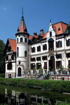 An old castle in the town of Zlin, Morovia   Czech Republic
