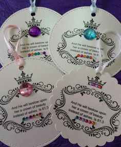 """""""Crowned with beauty"""" Isaiah 👑👑👑 Faith Crafts, Bible Crafts, Paper Crafts, Sunday School Activities, Bible Activities, American Heritage Girls, Christian Crafts, Church Events, Bible Lessons For Kids"""