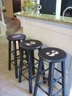 And Then There Was Home: Numbered Stools