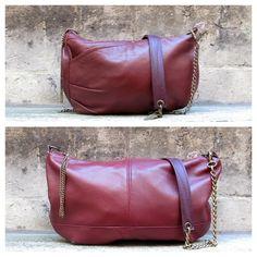 NEW / Sac et Mini-galliane #upcycled #leather #bordeaux #burgundy #sac #bag