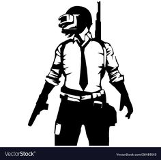Pubg player black and white image vector image on VectorStock Black And White Art Drawing, Black And White Sketches, Black And White Posters, Black And White Illustration, Alone Photography, Star Photography, Art Sombre, Adobe Illustrator, Imagenes Free
