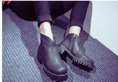 Chunky Heel Platform Ankle Boots - SouthBay Shoes | YESSTYLE
