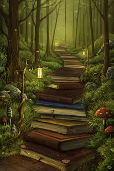 The Reader's Path - Jeremiah Morelli How cool! Would not get that with a bunch of Kindles, Nooks, iPads...etc...lol ..