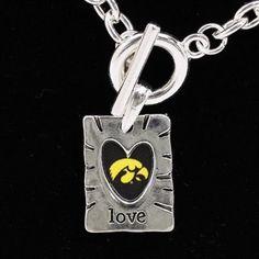 Iowa Hawkeyes Love Necklace