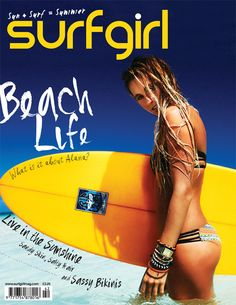 Alana Blanchard in the Tiki Goddess swim shot by Mandleberg on the cover of Surf Girl Magazine! Hot!