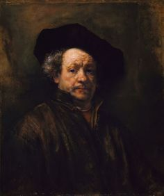 One of the very many self-portraits completed  by #Rembrandt over the course of his career; he completed at least a dozen such works in each decade of his life. Broader brush strokes in this work help to portray the aging features of the artist. Poster available from VintPrint.com