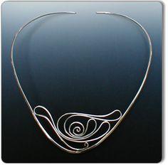 Necklace   Ann O'Brien.  Sterling silver.    http://aobjewelry.com/