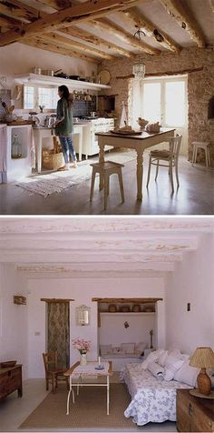 a lovely rustic house on formentera : style-files Spanish Kitchen Decor, Rustic Kitchen Design, Rustic Kitchens, Country Kitchen, Design Apartment, Spanish Style Homes, Earth Homes, My Dream Home, Dream Homes