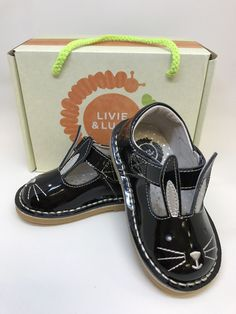 Molly Bunny Shoe in Black Patent Leather