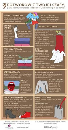 infografika_o_szafie. Weekend Humor, When Im Bored, Blog Design, Housekeeping, Content Marketing, Personal Development, Diy And Crafts, Life Hacks, Projects To Try