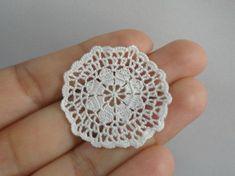 Miniature crochet round doily in white 112 dollhouse by MiniGio