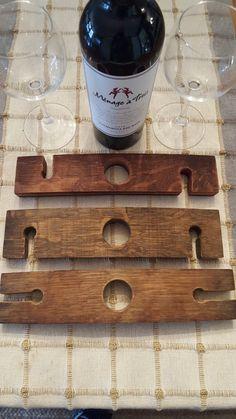 Wine Barrel Stave Glass Holder von SierraReclaimed auf Etsy