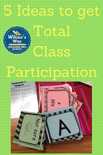 Wilcox's Way: Whole Class Participation Techniques--ideas to get EVERY student involved! Middle School Classroom, Math Classroom, Classroom Ideas, 7th Grade Math, Sixth Grade, Math Talk, Cooperative Learning, Math Practices, Math Activities