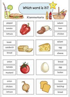"""Ideenreise: Klammerkarten """"Let´s make a sandwich"""""""