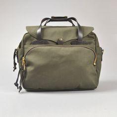 filson padded computer bag olive - front