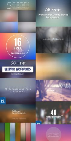 27 Amazing Free Blurred Background Packs. these are some background packs you can download for free.