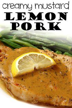 Low carb & gluten free Creamy Mustard Lemon Pork Loin - a great one pan dinner idea that's ready in under 30 minutes! www.tasteaholics.com