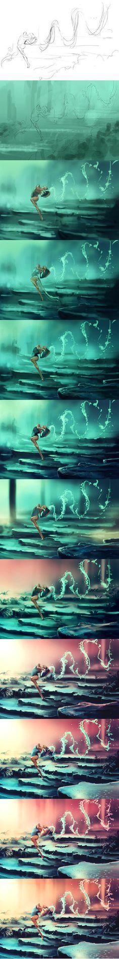 WIp of Dancing Zodiac AQUARIUS by AquaSixio.deviantart.com on @DeviantArt