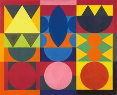 Auguste herbin composition | Un autre, à l'avenant : les formes géométriques sont simples et ...