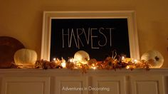 For above the cupboards. Repurpose frame with chalkboard paint. Write on and change with seasons, events, etc.