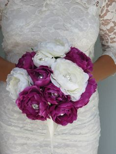 Jewelry Ivory Purple Bouquet Bridal by BridalWorldAccessory, $48.00