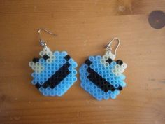 Cookie Monster earrings hama mini beads by KarinMind on deviantART