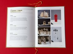 Craft Victoria Annual Report by Adrian Cantelmi, via Behance