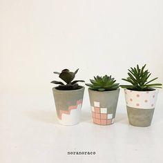 Concrete Planter/ A set of 1 2 3/ Coral Concrete Pot/