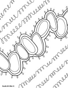 Abstract Coloring Pages Doodle Art Alley