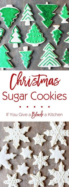 This recipe for Christmas sugar cookies requires no refrigeration and doubles easily. Included is a recipe for royal icing that hardens (great for gifting!) | @haleydwilliams