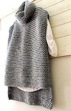 4d0f863acb39e Chunky Vest Cowl Knit Turtle Neck Sweater Vest Women s Men s Clothing