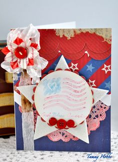 A patriotic card created by Tammy Hobbs @ Creating Somewhere Under The Sun