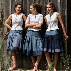 The rock maker - noble traditional skirts from Bavaria - Trachtenröcke - Oktoberfest Traditional Skirts, Traditional Fabric, Oktoberfest Outfit, Urban Fashion, Girl Fashion, Womens Fashion, Denim Attire, Dress Skirt, Lace Skirt