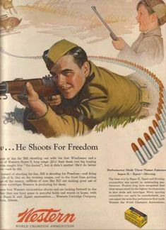 Historical Trends in Gun Advertising In the late 1960's The war theme was going away and people began to advertise guns for sport