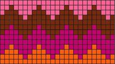 Nest in the tree: Seamless zigzag kirjoneuletakki Tapestry Crochet Patterns, Fair Isle Knitting Patterns, Knitting Charts, Mosaic Patterns, Easy Crochet Patterns, Knitting Stitches, Beading Patterns, Motif Zigzag, Zig Zag Pattern